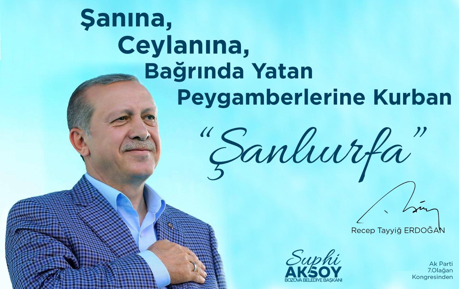 Bozova Belediye Başkanı Suphi Aksoy'dan AK Parti 7. Olağan Büyük kongre sonrası bir mesaj yayımladı.