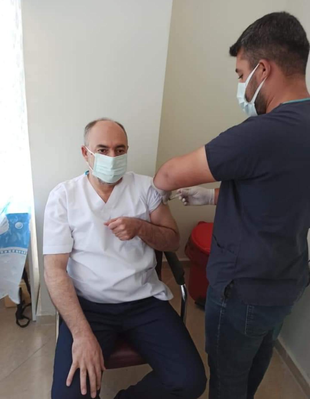 Başkan Aksoy, vatandaşları aşı olmaya davet etti.